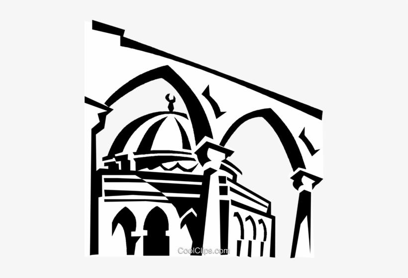 Gold Dome, Jerusalem Royalty Free Vector Clip Art.