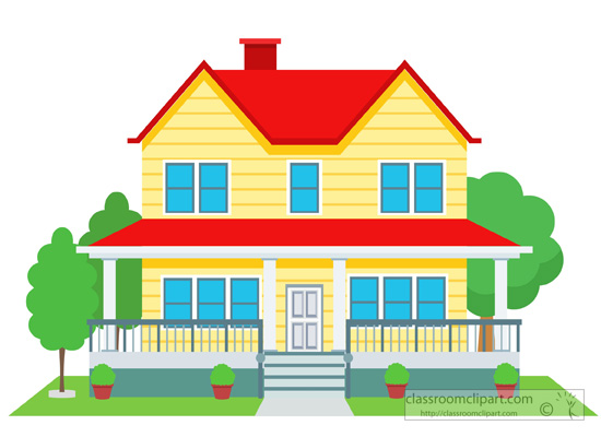 29277 House free clipart.