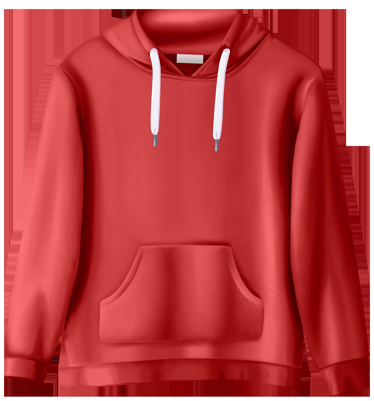 Red Sweatshirt PNG Clip Art.