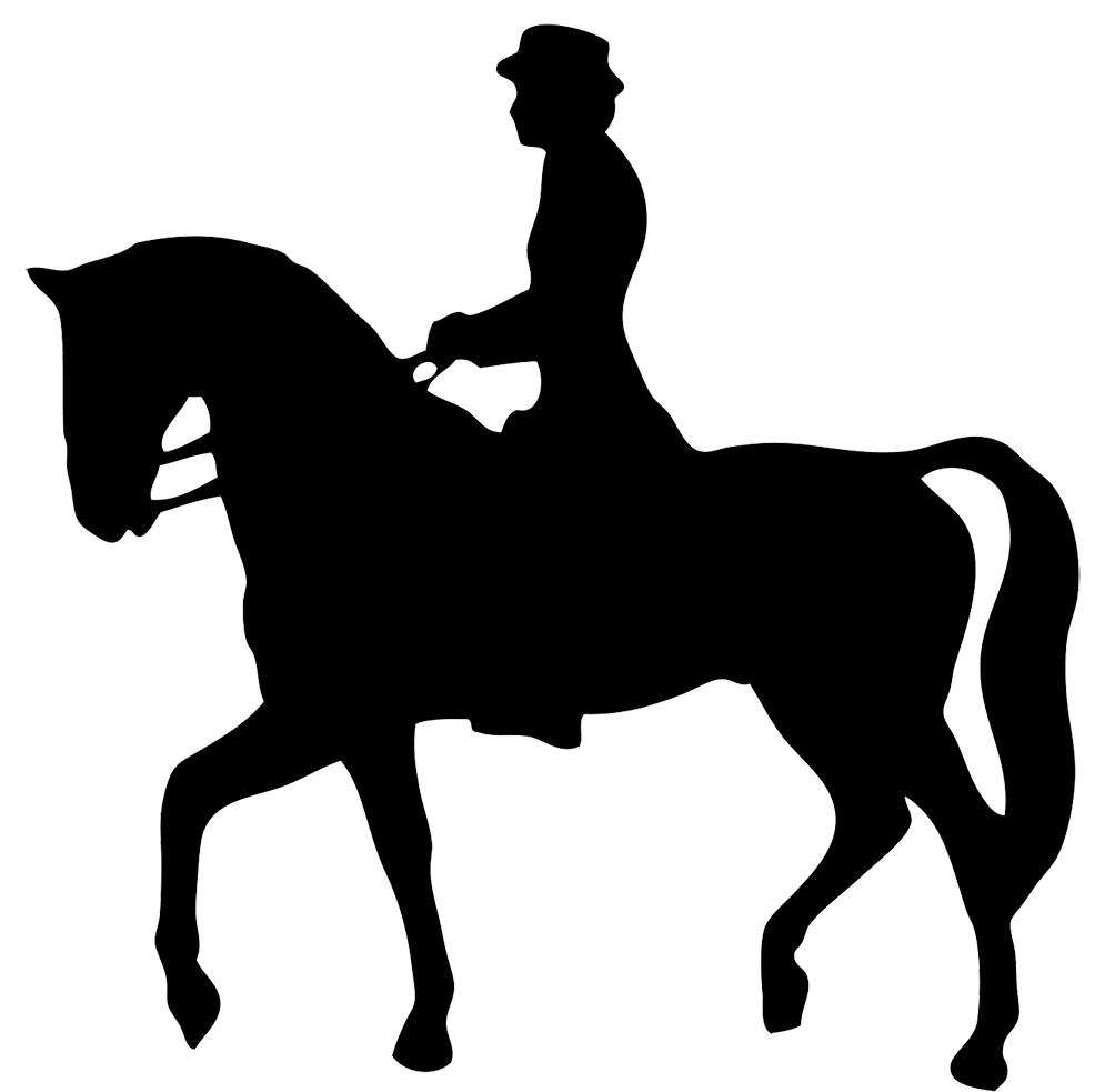 horse rider silhouette clipart.