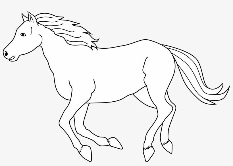 Running Horse Clip Art.