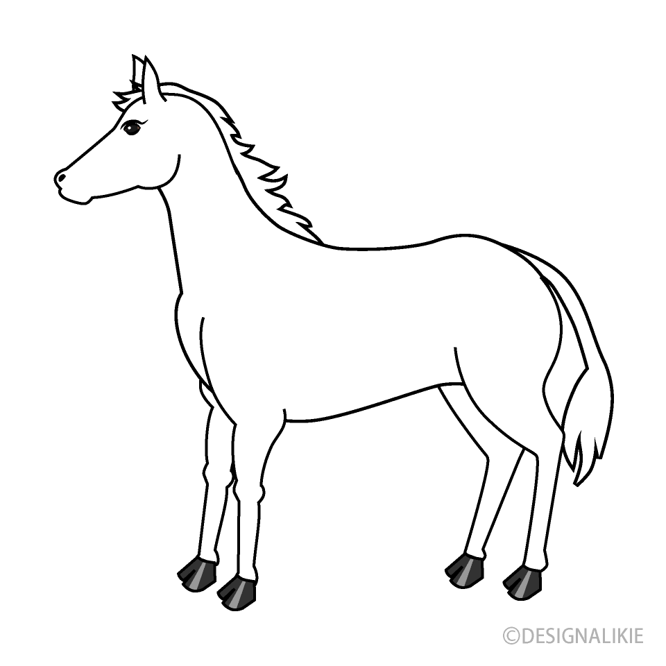 Free White Horse Clipart Image|Illustoon.