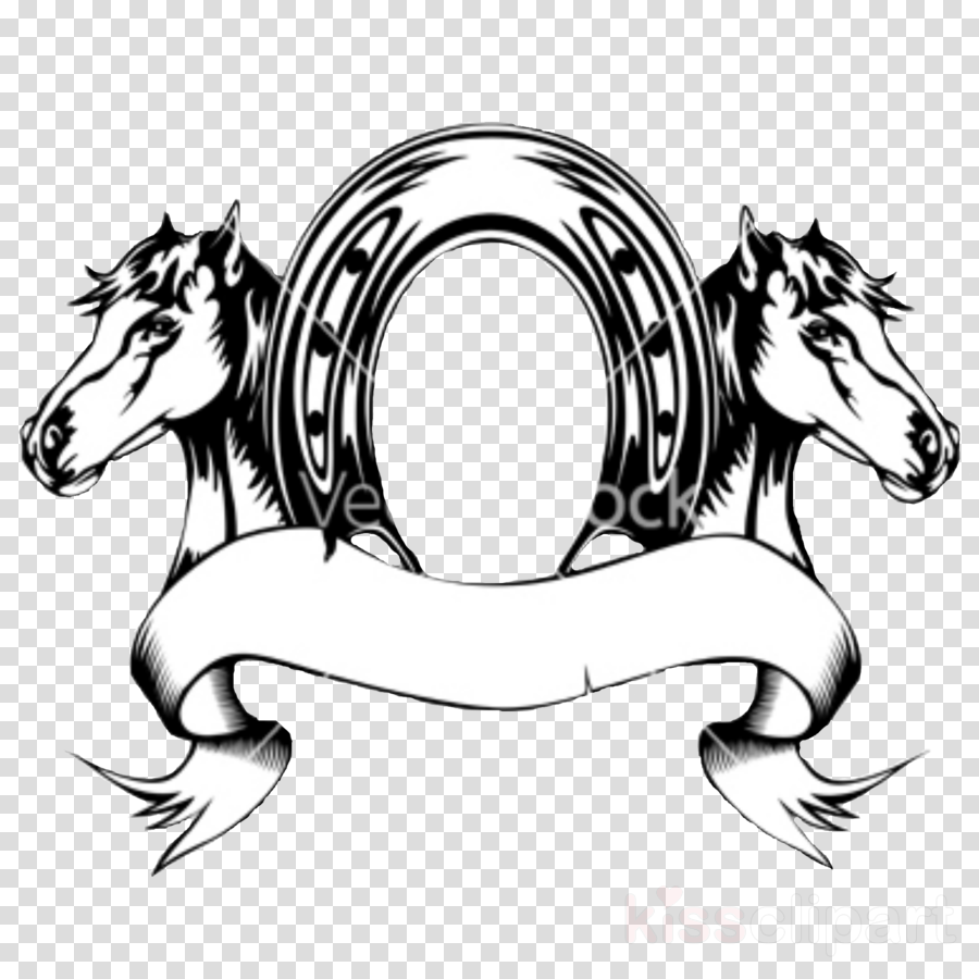 horse head clip art line art cartoon clipart.