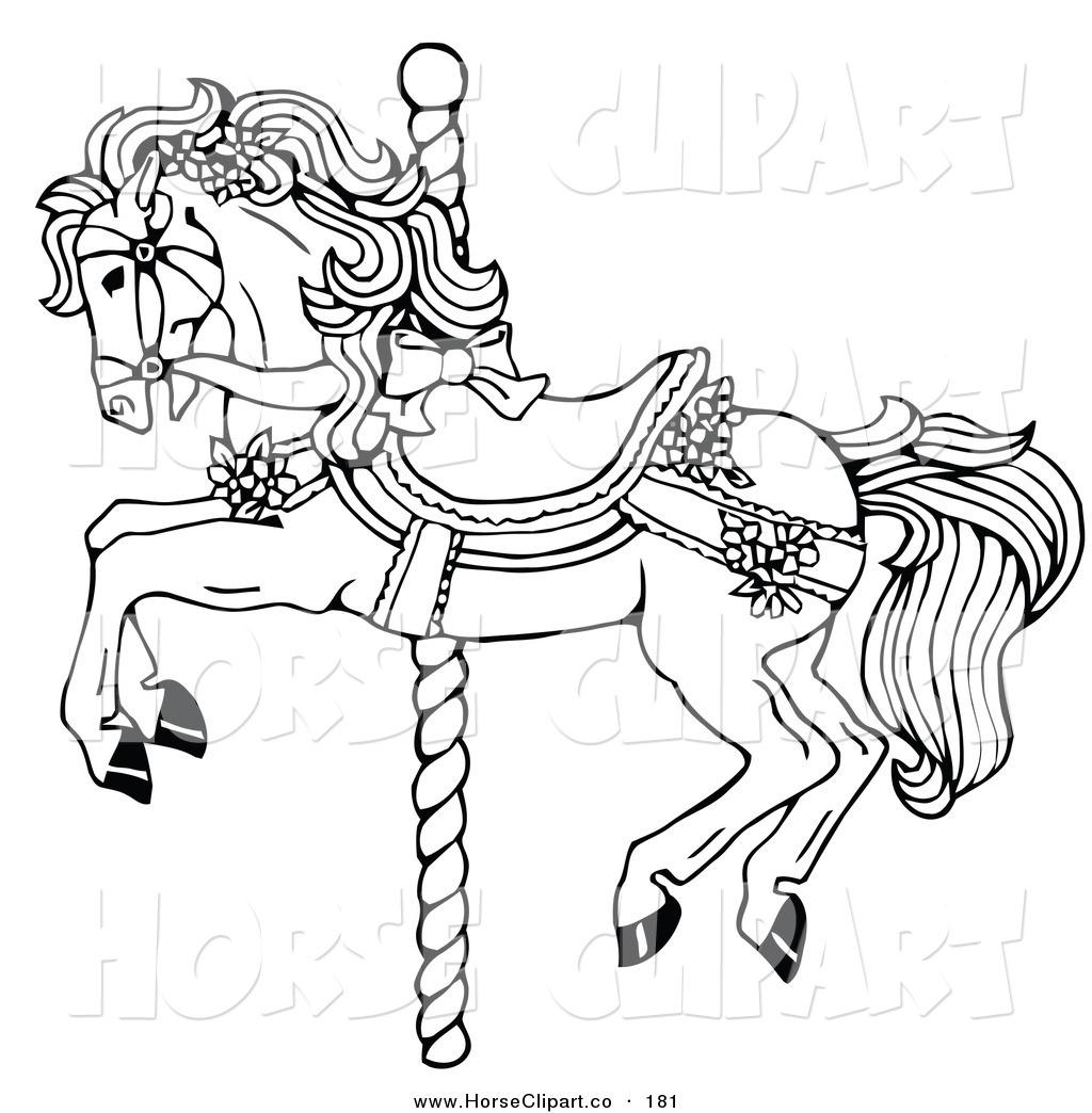 Carousel Horse Clip Art.