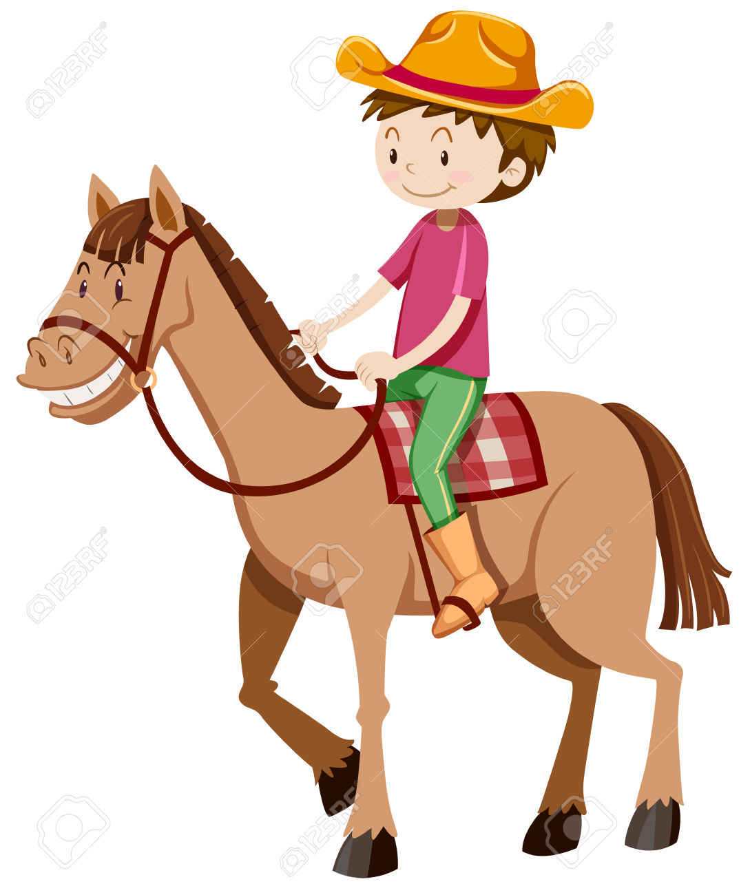 Horse Riding Clipart.