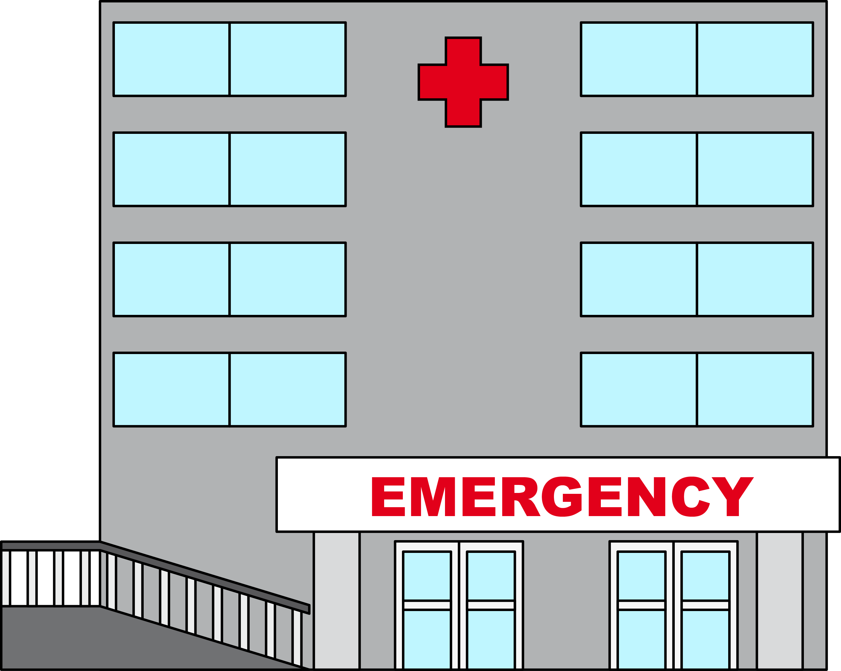 Hospital Building Clipart.
