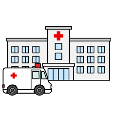 Free Hospital and Planting Clipart Image|Illustoon.