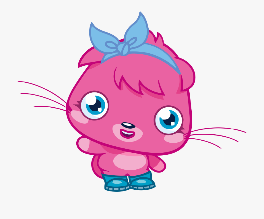 Poppet Moshi Hot Pink Girl Clipart Png.