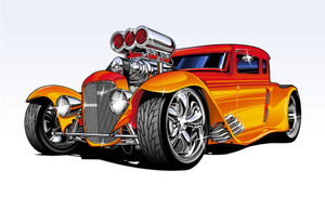 Hot Rods Clipart.
