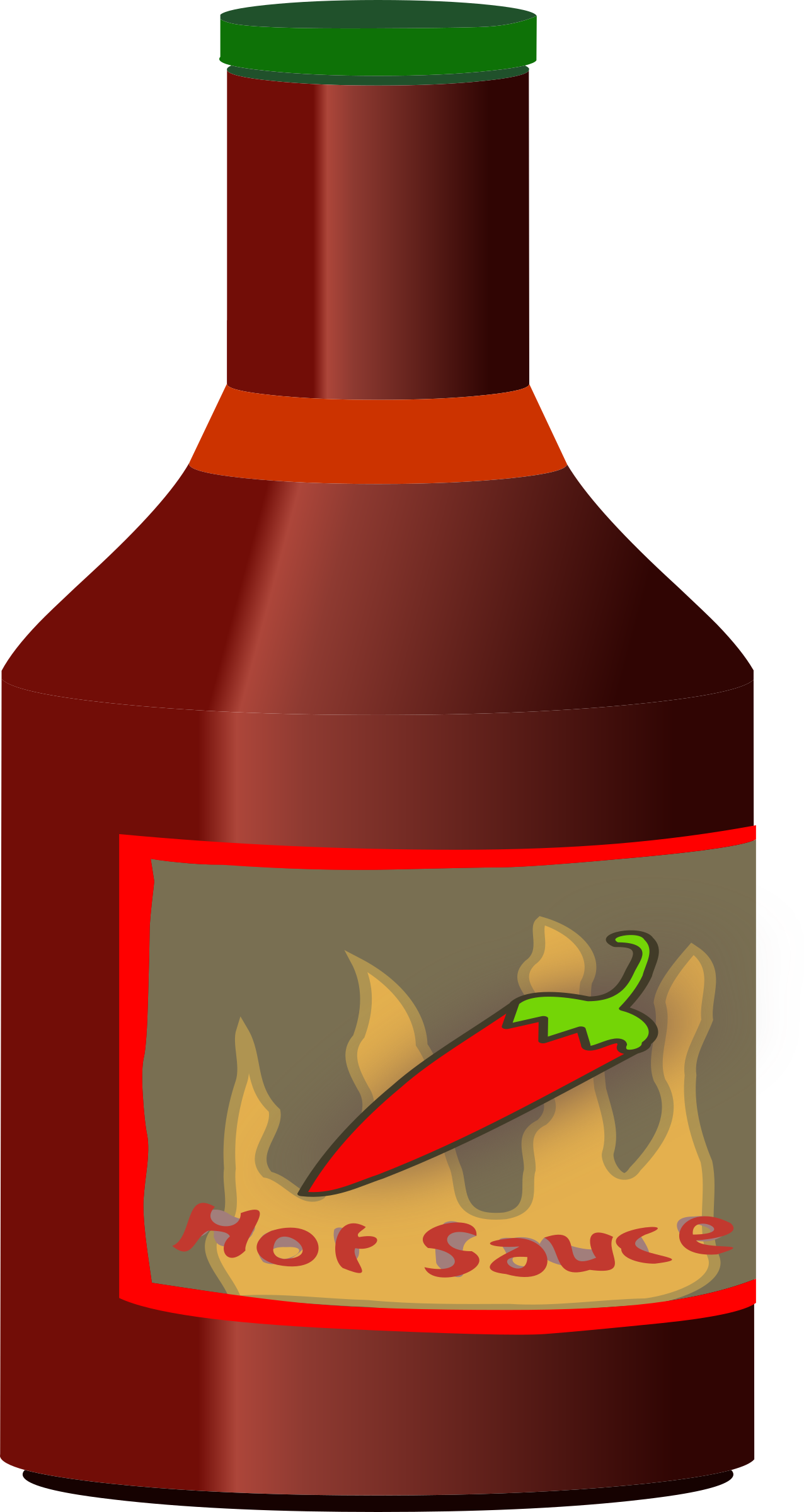 Bottle of hot sauce vector clipart image.