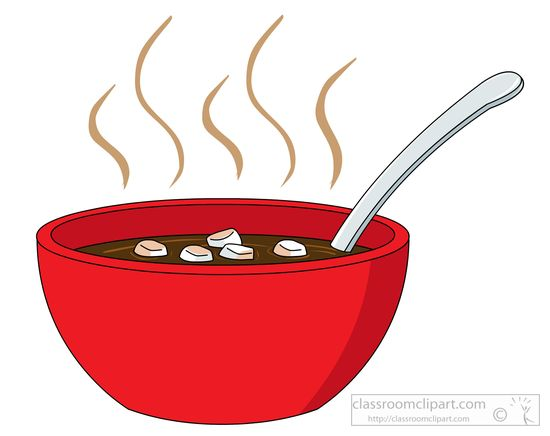 Hot soup with croutons » Clipart Station.