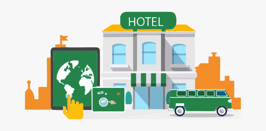 Hotel Booking Clipart.