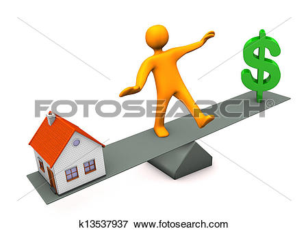 Stock Illustration of House Dollar Balance k13537937.