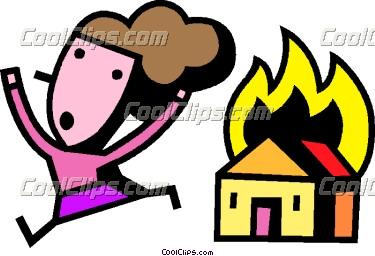 House On Fire Clip Art.