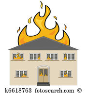 House fire Clip Art Vector Graphics. 3,743 house fire EPS clipart.