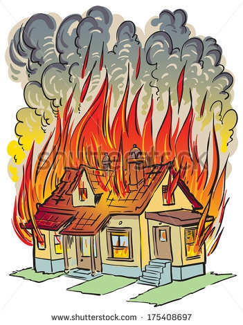 House Fire Clip Art.