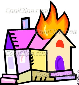 House on fire Vector Clip art.