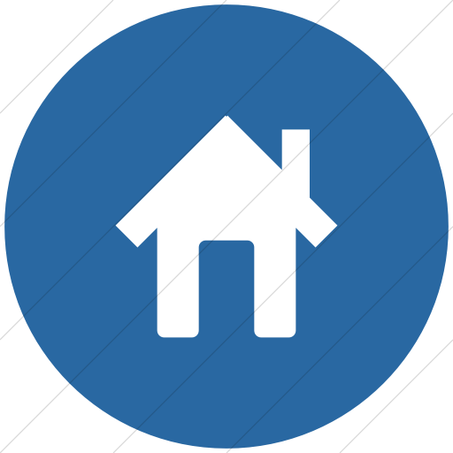 Broccolidry House Icon » Style: Flat Circle White On Blue.