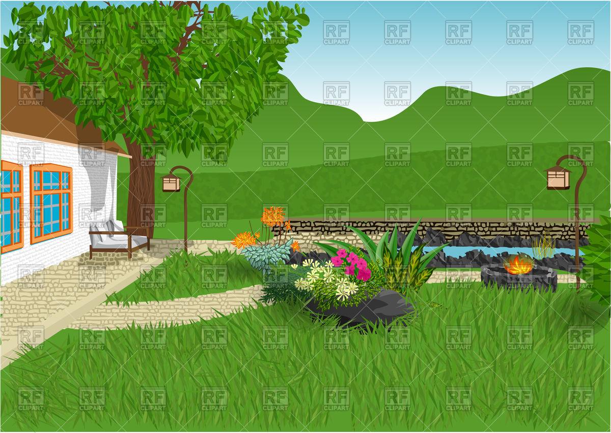 Download High Quality garden clip art house Transparent PNG.