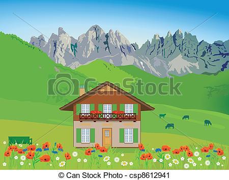 Clipart House Mountain.