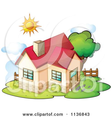House With Sun Clipart.