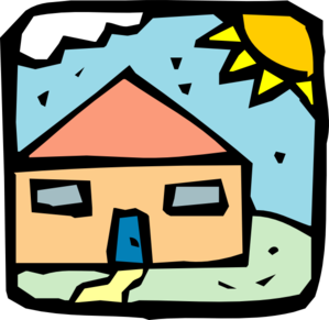 House With Sun Clipart.