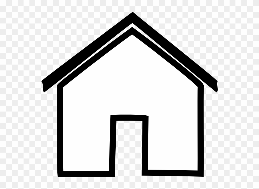Black House Outline Clip Art.