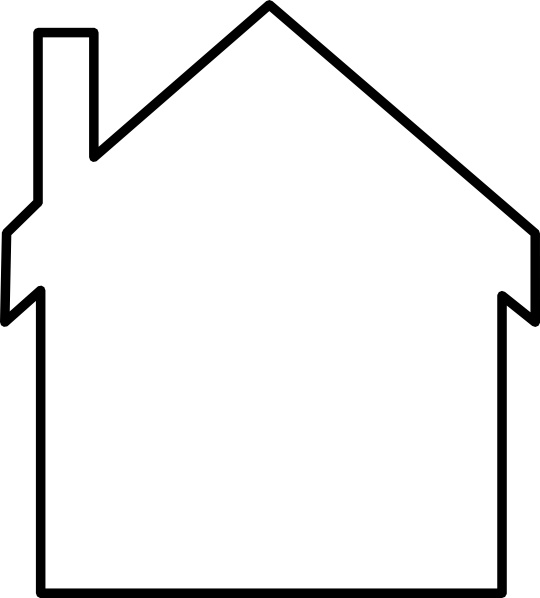 House Silhouette clip art Free vector in Open office drawing.