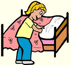 Doing Household Chores Clipart.