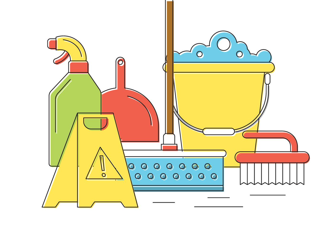Clean clipart housekeeping tool, Clean housekeeping tool.