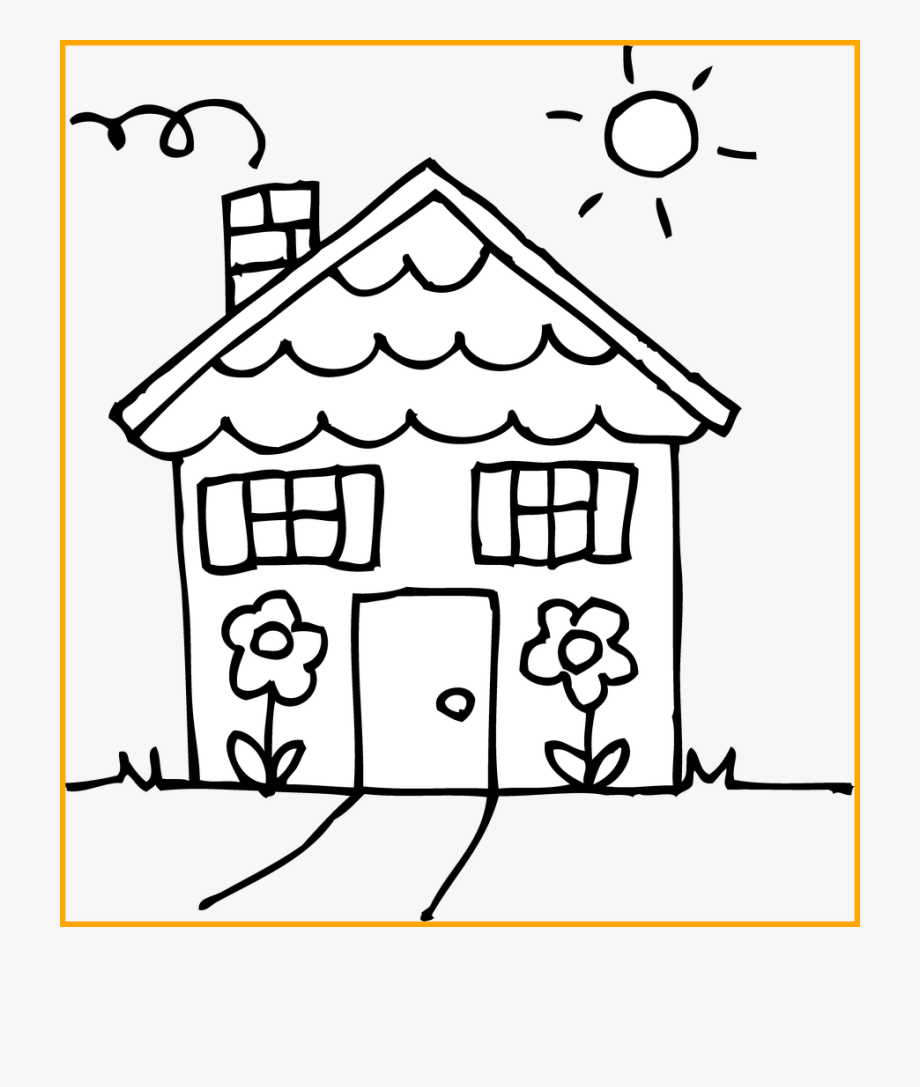 Shocking House Coloring Clipart Of White Page Popular.