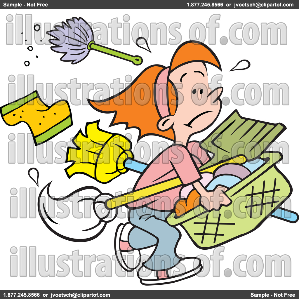 Household chores pictures clip art.