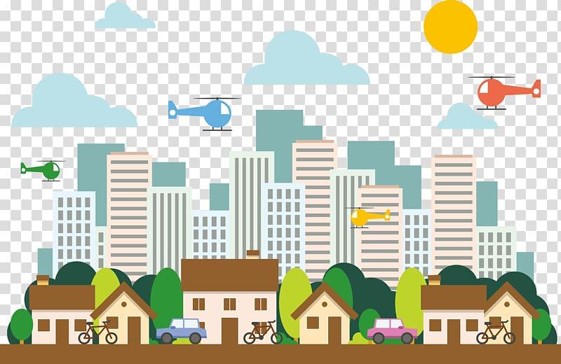 City buildings illustration, Housing House Illustration.