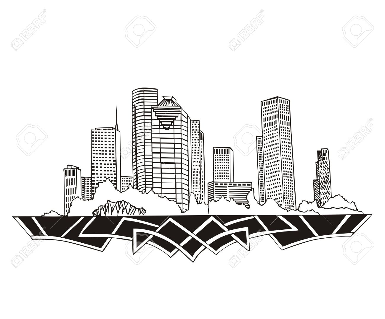 Showing post & media for Cartoon houston skyline.