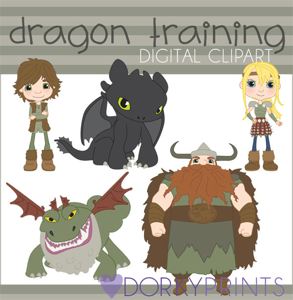 Train Your Dragon Clipart Set Personal and Limited.