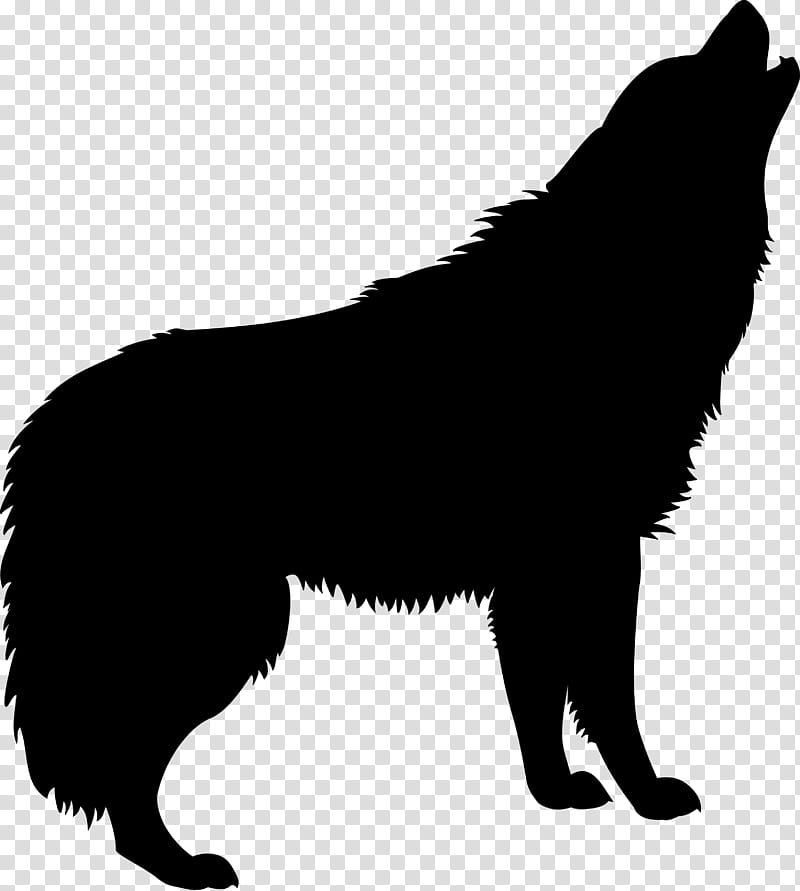 Howling Wolf Silhouette transparent background PNG clipart.