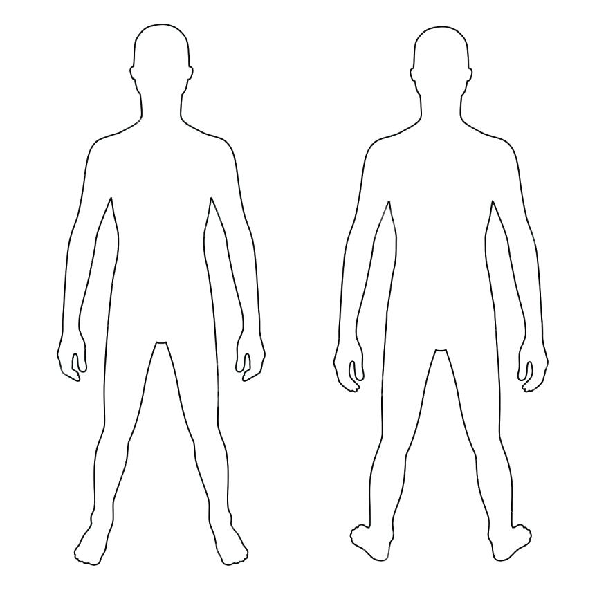 Human Body Clipart Black And White.