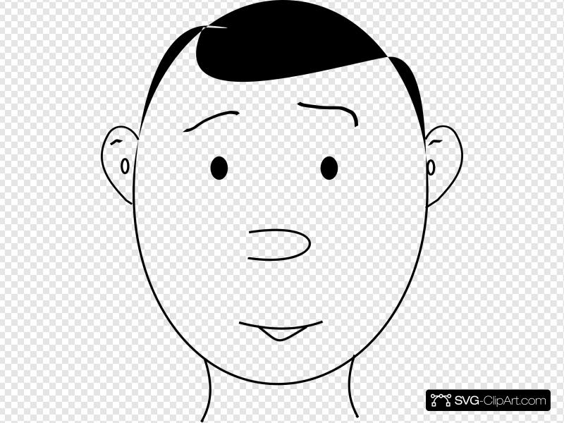 Human Face Outline Clip art, Icon and SVG.