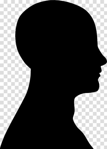 Human head Silhouette Face , Face Outline transparent.
