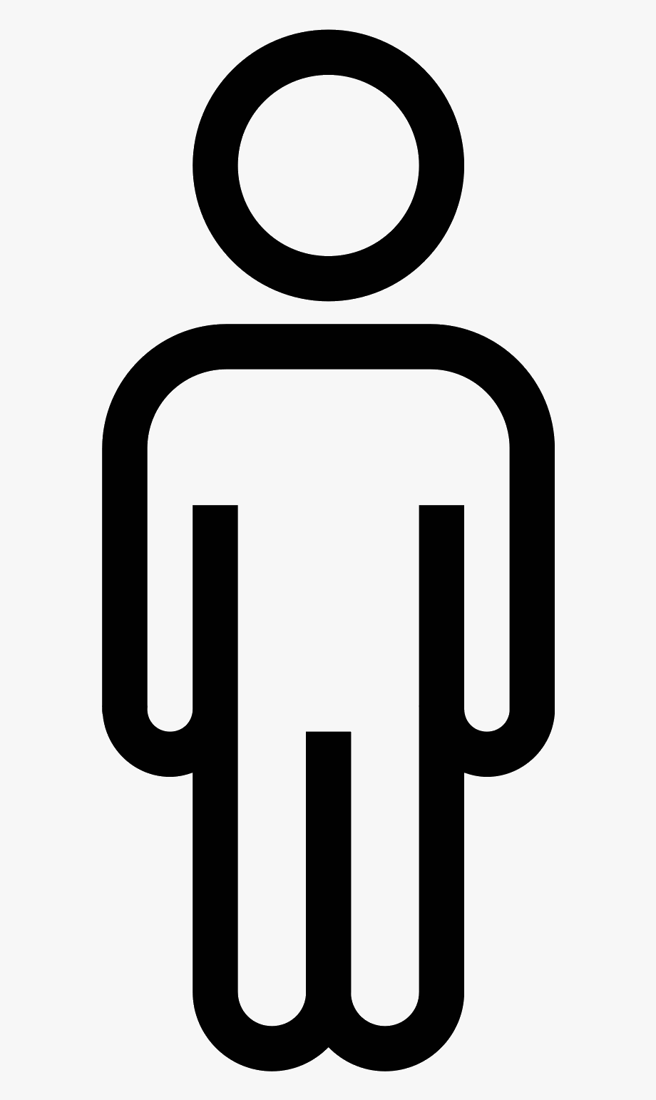 Human Outline Clipart.
