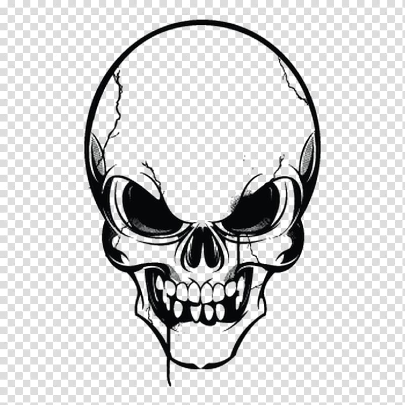Human skull symbolism , fashion theme transparent background.
