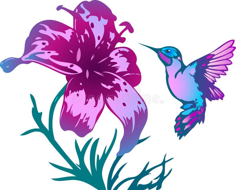 1262 Hummingbird free clipart.