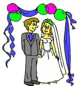 Image Clipart Mariage gratuit en ligne.