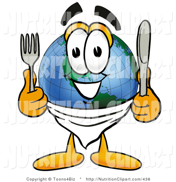 Clip Art Of A Hungry World.
