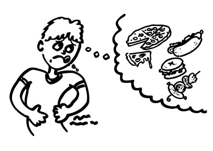 clipart hungry student #17