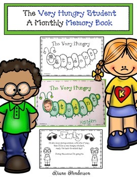 The Very Hungry Student Monthly Memory Book by Teach With Me.