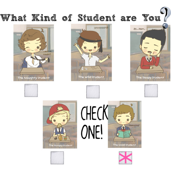 Kind student clipart.