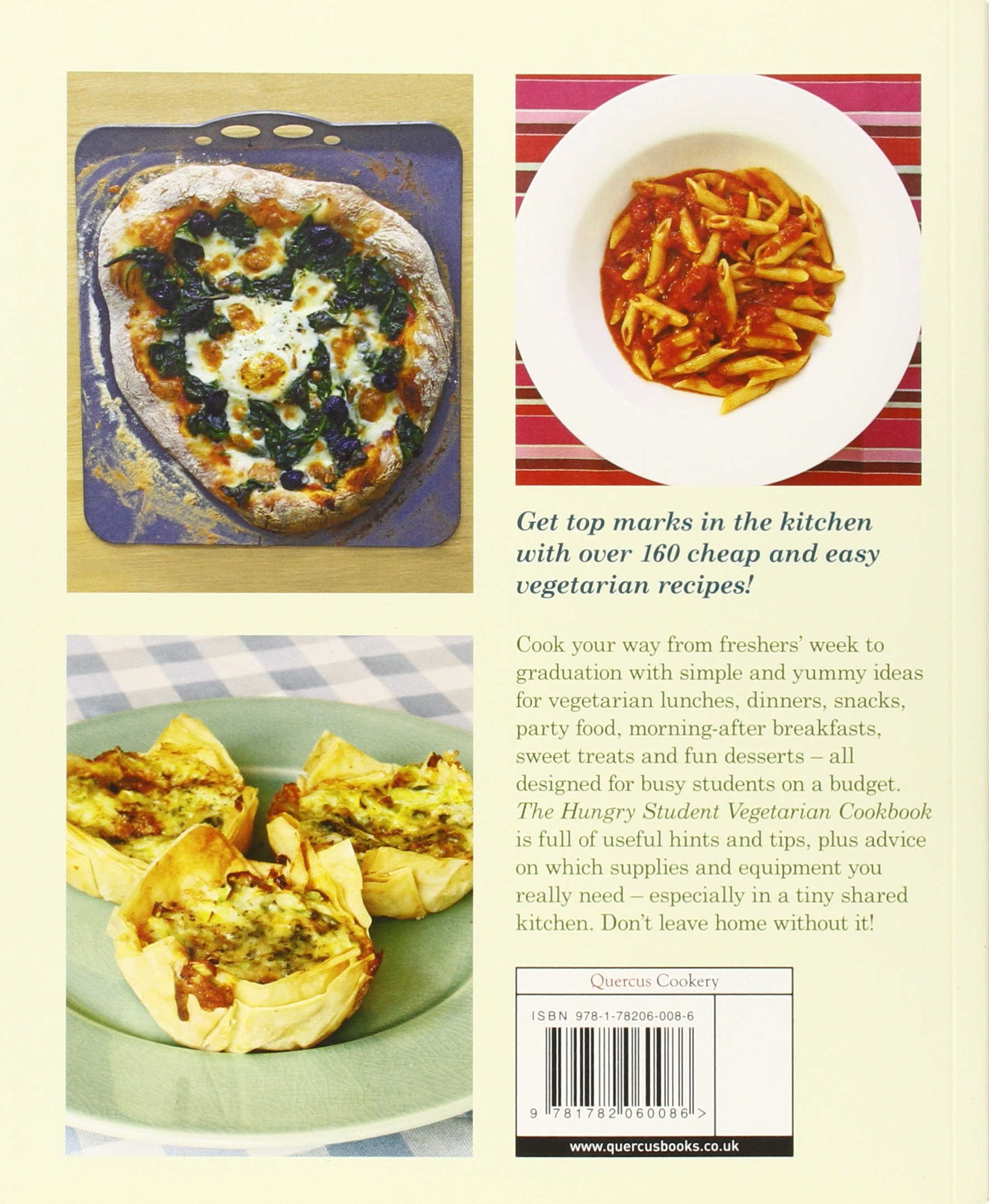 The Hungry Student Vegetarian Cookbook: Amazon.co.uk: Charlotte.