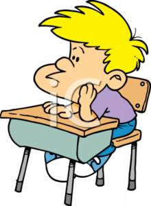 Sad Student Clipart.