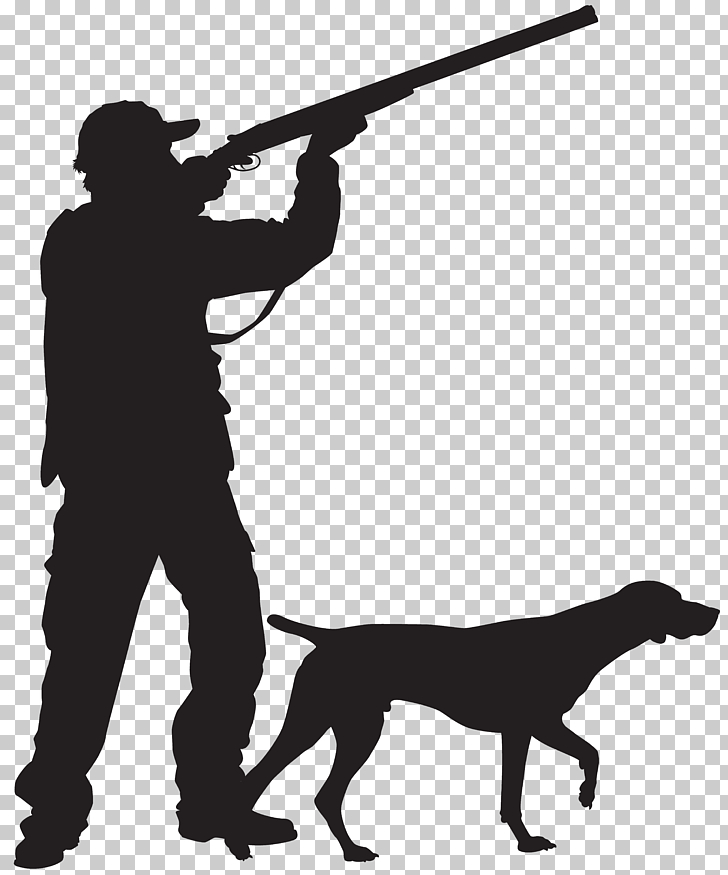 Hunting dog Silhouette Hunting dog , Hunter with Dog.